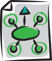 Illustrated document of strategy icon